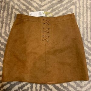 BCBGeneration Suede Skirt